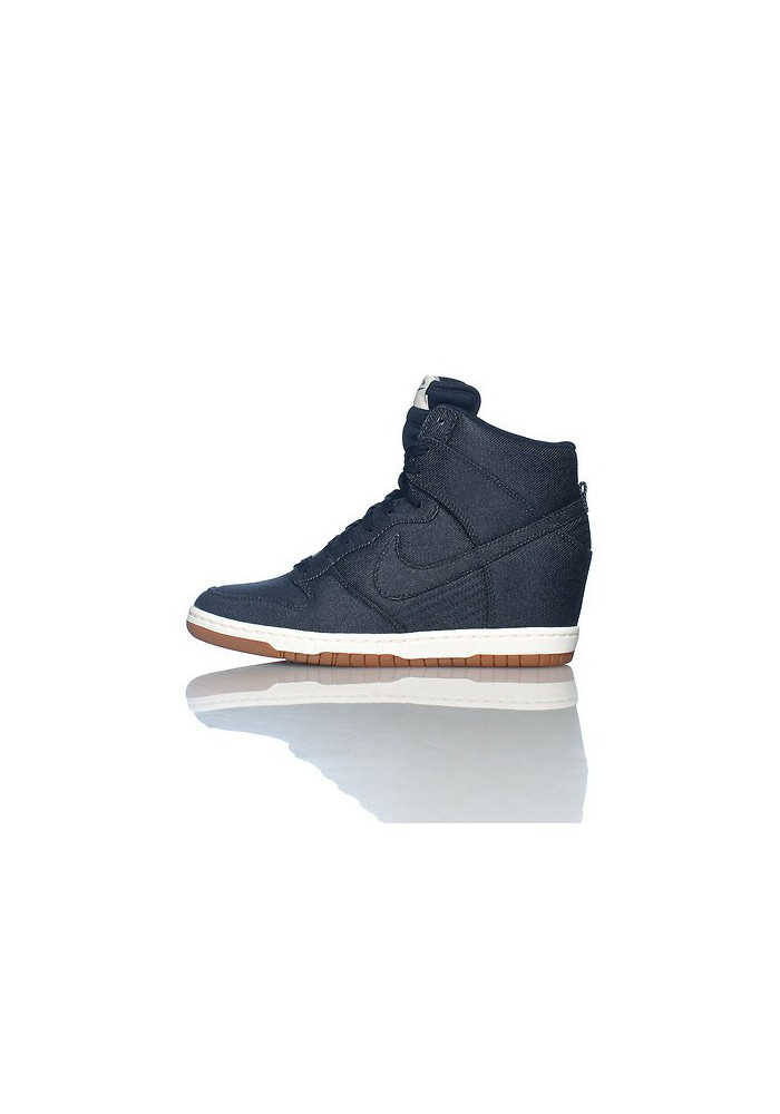 Baskets Haute Nike DUNK SKY HI ESSENTIAL WEDGE Bleu (Ref : 644877-400) Femmes