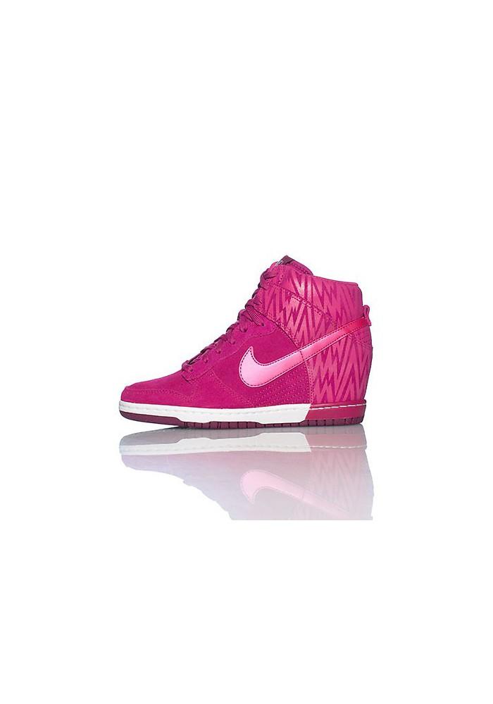 Baskets Haute Nike DUNK SKY HI PRINT Rose (Ref : 543258-500) Femmes