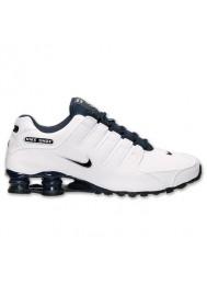 roshe run white - Running Nike Shox NZ EU Blanche (Ref : 501524-105) Chaussure ...