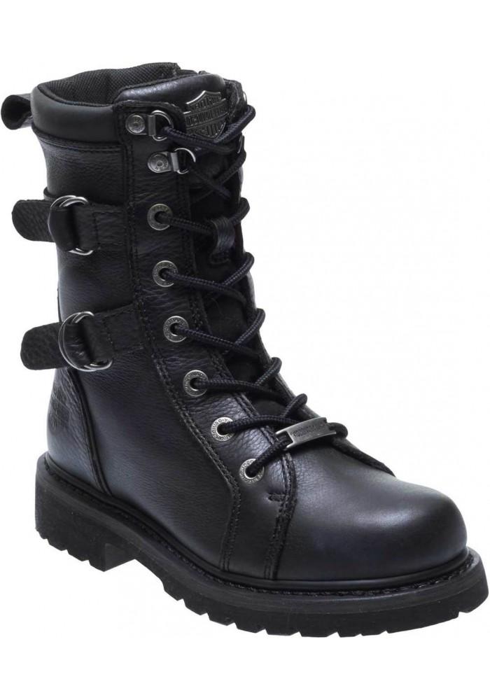 Boots Harley-Davidson  Maridell  noir en cuir pour femmes D87160
