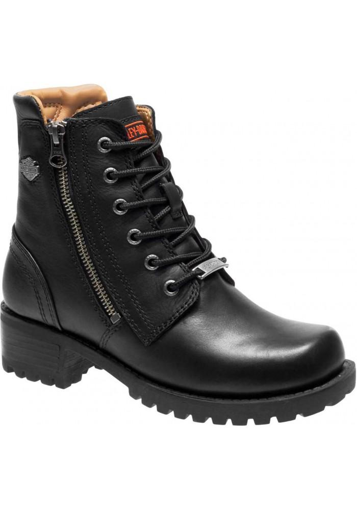 Boots Harley-Davidson  Asher  noir en cuir pour femmes D84250