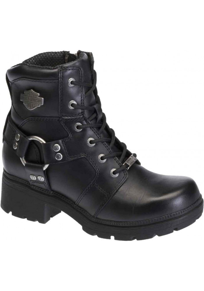 Boots Harley-Davidson  Jocelyn  noir en cuir pour femmes. D83775