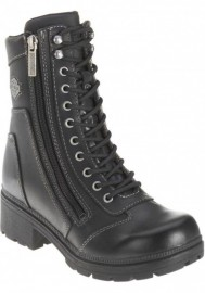 Boots Harley-Davidson Tessa Lace-Up Side Zip Motorcycle pour femmes D85262