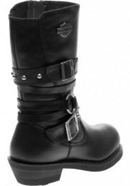 Boots Harley-Davidson Ardwick noir en cuir pour femmes D84103