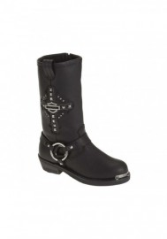 Boots Harley-Davidson Mila noir en cuir pour femmes. D87062
