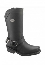 Boots Harley-Davidson Cybill noir en cuir pour femmes D87034