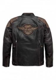 Blouson Harley-Davidson Hommes Triple Vent System Trostel en cuir 98053-19VM