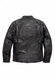 Blouson Harley-Davidson Hommes Dauntless Convertible en cuir Noir 98133-17VM