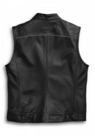 Blouson Harley-Davidson Hommes en cuir Vest Foster Reflective Noir 98090-15VM