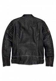 Blouson Harley-Davidson Hommes Screamin' Eagle en cuir Noir 98028-18VM
