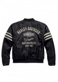 Blouson Harley-Davidson Hommes Heritage Nylon Bomber Noir/Beige. 98552-15VM
