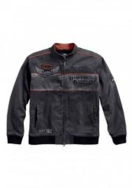 Blouson Harley-Davidson Hommes Iron Block Colorblocked Casual Noir 98577-17VM