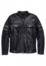 Blouson Harley-Davidson Hommes Triple Vent System Wick Twister en cuir 98023-18VM