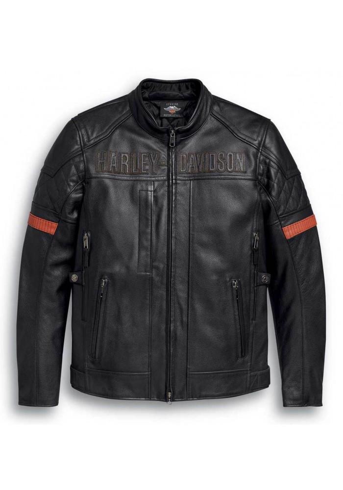Blouson Harley-Davidson Hommes Vanocker Waterproof Triple Vent en cuir 98000-20VM