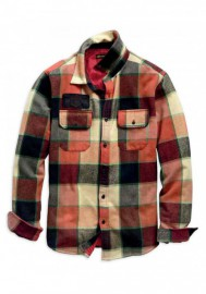 Blouson Harley-Davidson Hommes Logo Lined Slim Fit Plaid Shirt - Red 99259-19VM