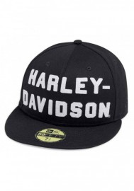 Casquette Harley Davidson Homme Felt Letter 59FIFTY Baseball Cap Black 99467-19VM