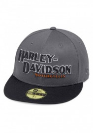 Casquette Harley Davidson Homme Iron Block 59FIFTY Baseball Cap Gray & Black 99470-19VM