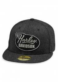 Casquette Harley Davidson Homme Winged Harley 59FIFTY Baseball Cap Gray 99457-19VM