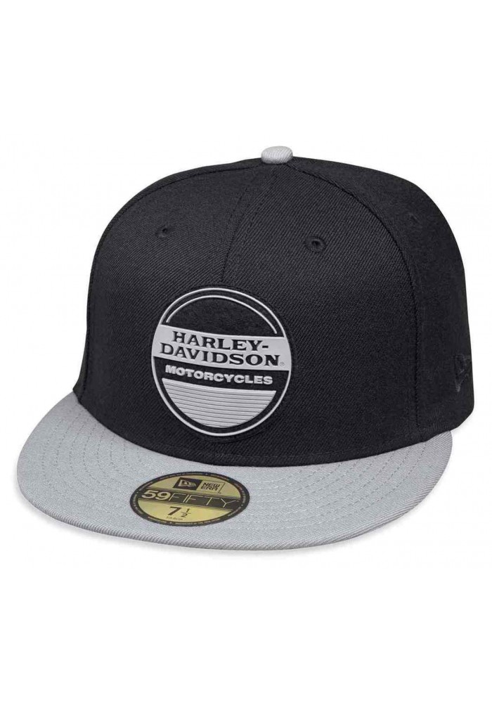 Casquette Harley Davidson Homme High Density Print 59FIFTY Baseball Cap Black 99429-18VM