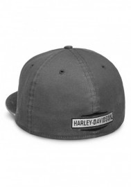 Casquette Harley Davidson Homme Raw Edge Patch 59FIFTY Baseball Cap Gray 99437-18VM