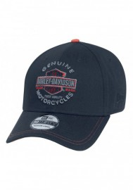 Casquette Harley Davidson Homme Genuine Trademark 39THIRTY Cap Hat Black. 99424-16VM