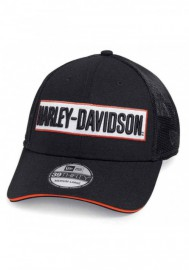 Casquette Harley Davidson Homme Embroidered 39THIRTY Trucker Cap Black 99471-19VM
