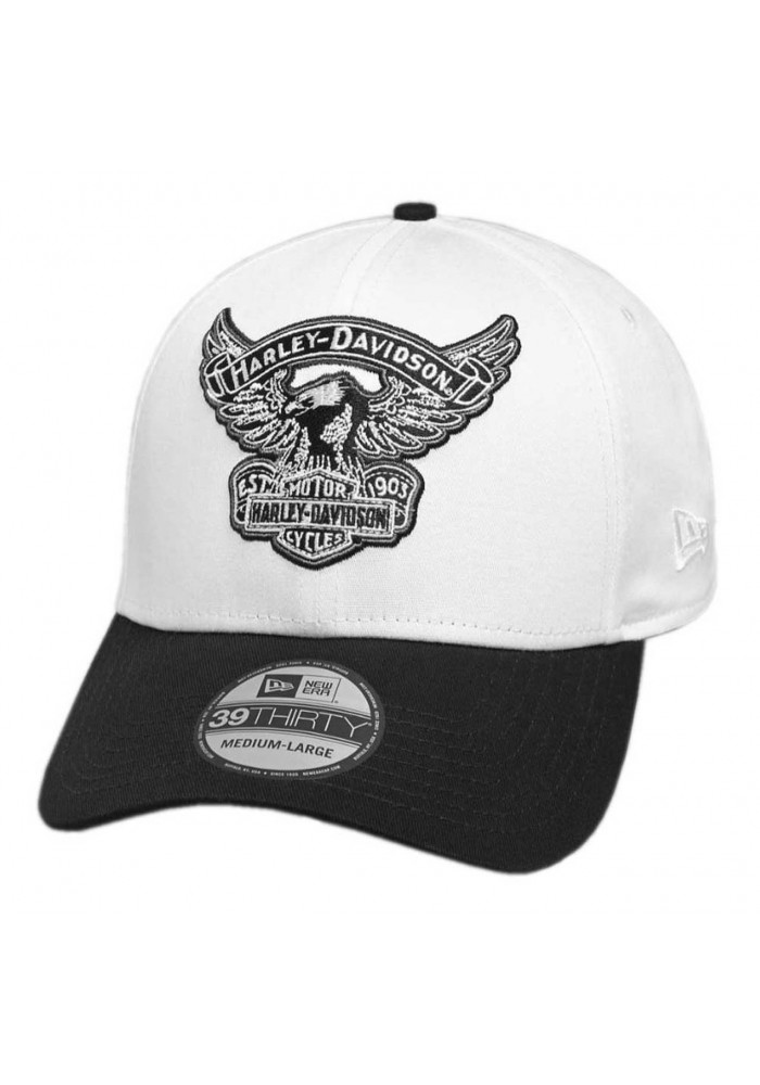 Casquette Harley Davidson Homme Embroidered Eagle 39THIRTY Baseball Cap White 99427-18VM