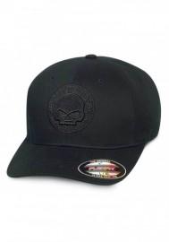 Casquette Harley Davidson Homme Willie G Skull Stretch Baseball Cap Black 99421-16VM