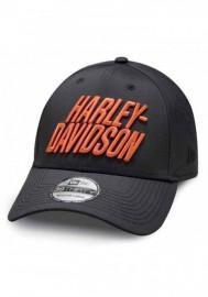 Casquette Harley Davidson Homme Laser Perf 39THIRTY Baseball Cap - Black 97856-19VM