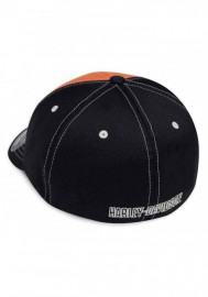 Casquette Harley Davidson Homme Colorblock Stretch Baseball Cap Orange & Black 99469-19VM