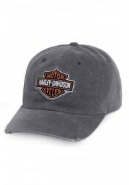 Casquette Harley Davidson Homme Bar & Shield Frayed Logo Baseball Cap Gray 99412-16VM