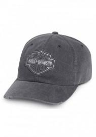 Casquette Harley Davidson Homme Frayed Tonal B&S Logo Baseball Cap Gray 99414-16VM