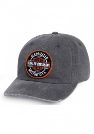 Casquette Harley Davidson Homme Frayed Genuine Oil Patch Baseball Cap Gray 99411-16VM