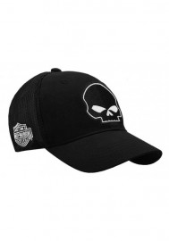 Casquette Harley Davidson Willie G Skull Black Baseball Cap Stretch Fit BC119930