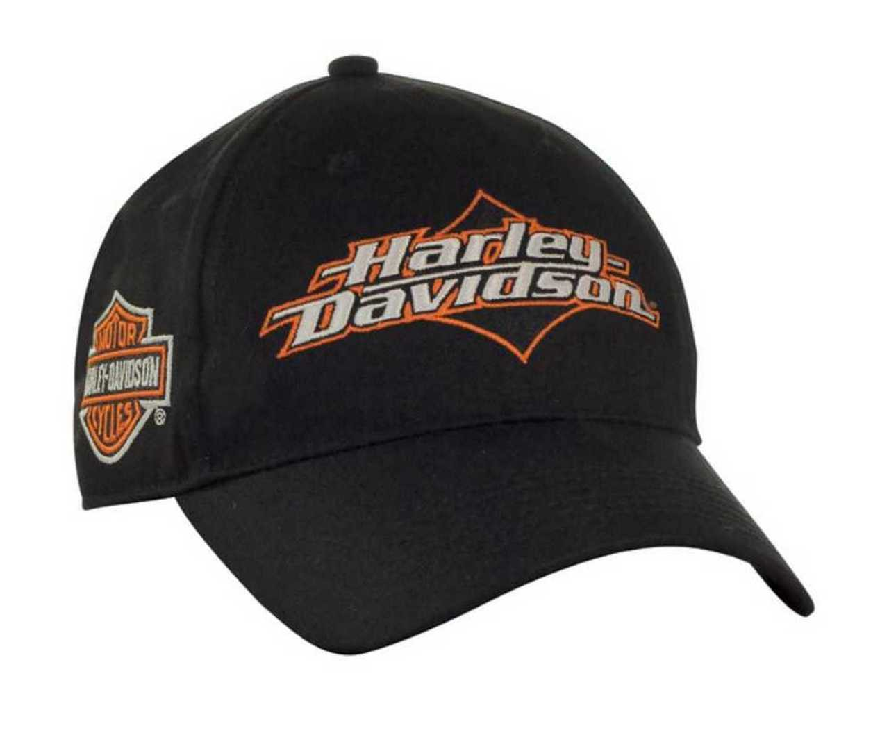harley davidson cap bar ride shield joy baseball beanie knit mens hats berretto scudo nero noir wisconsin