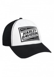 Casquette Harley Davidson Homme Ignition Embroidered Baseball Cap White & Black BCC33488