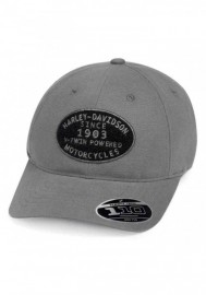 Casquette Harley Davidson Homme V-Twin Powered Adjustable Baseball Cap Gray 99461-19VM