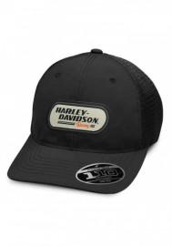 Casquette Harley Davidson Homme H-D Racing Patch Trucker Baseball Cap - Black 99459-19VM