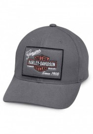 Casquette Harley Davidson Homme Genuine Logo Patch Baseball Cap Gray 99435-18VM