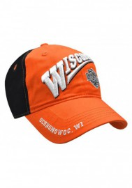 Casquette Harley Davidson Bar & Shield Baseball Cap Orange & Black BCCUS0302