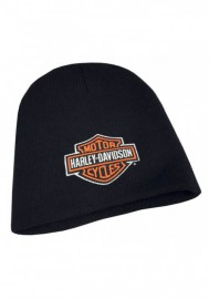 Casquette Harley Davidson Embroidered Bar & Shield Knit Beanie Cap Black KNCUS020130
