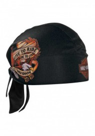 Casquette Harley Davidson Live To Ride Eagle Head Wrap Black HW00930