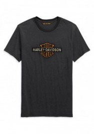 Harley-Davidson Hommes Cracked Print Logo manches courtes Tee Shirt - Gray 99101-20VM