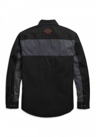 Harley-Davidson Hommes Copperblock manches longues Woven Shirt Noir 99081-20VM