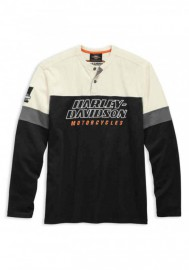 Harley-Davidson Hommes H-D Racing manches longues Colorblocked Henley 99167-19VM