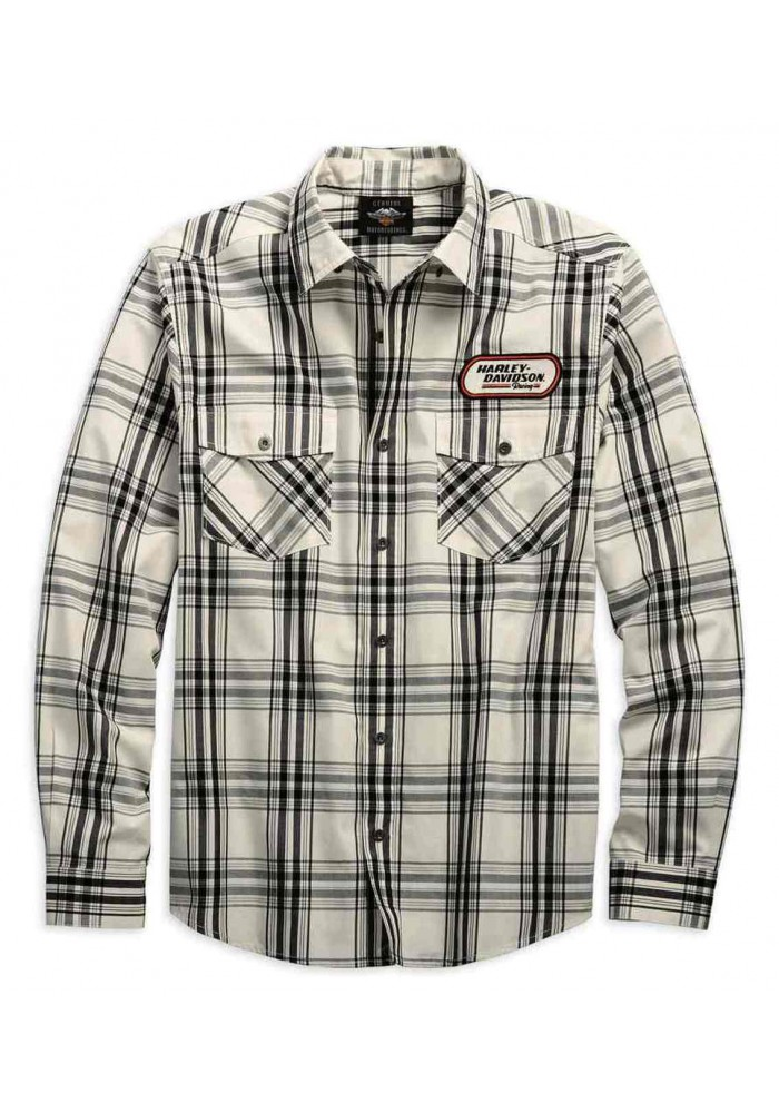Harley-Davidson Hommes H-D Racing manches longues Plaid Woven Shirt 99162-19VM