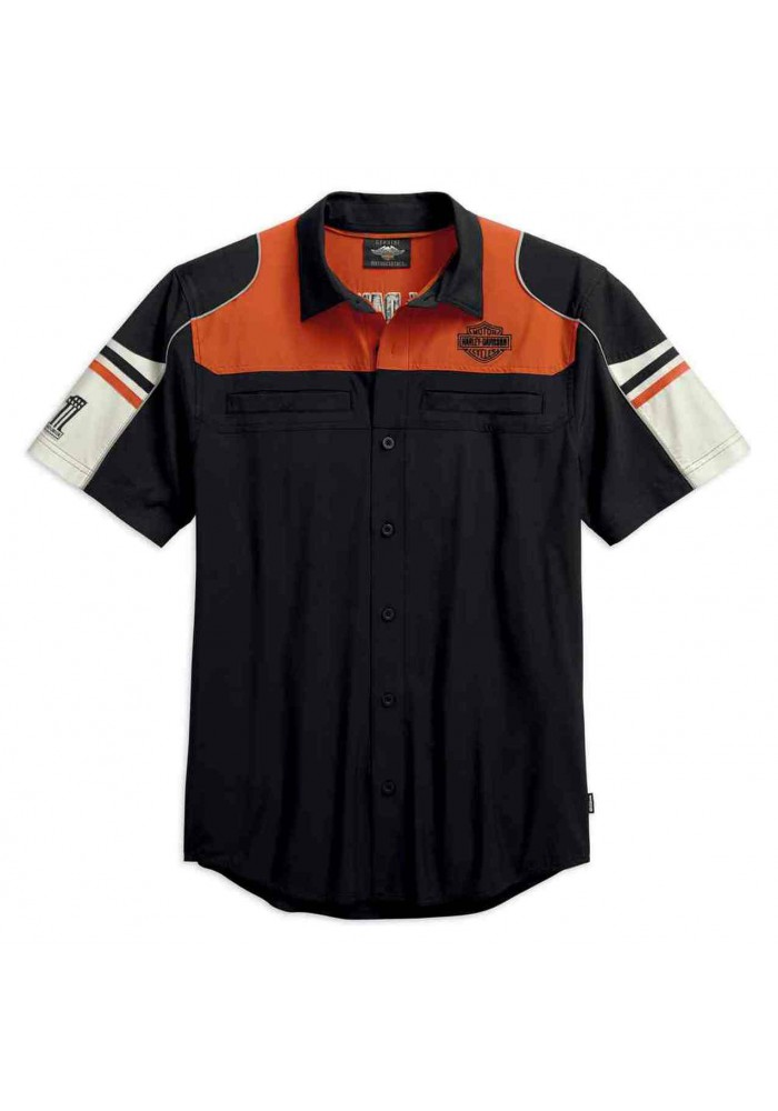 Harley-Davidson Hommes Performance Colorblock Shirt w/ Coolcore Tech 99189-19VM