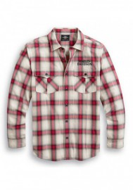Harley-Davidson Hommes Freedom manches longues Button Front Plaid Shirt 99010-20VM