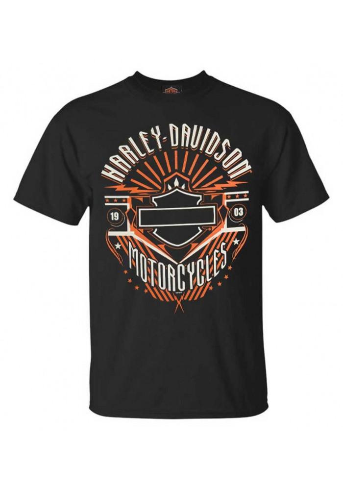 Harley-Davidson Hommes Beast Bar & Shield manches courtes col rond T-Shirt - Noir 30292396