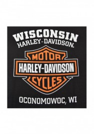 Harley-Davidson Hommes Orange Bar & Shield Noir T-Shirt 30290591